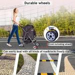 4-Wheels-Pet-Stroller-Cat-Dog-Cage-Stroller-Travel-Folding-Carrier-with-Cup-Holders-and-Removable-Liner-for-Small-Medium-Dog-Cat-0-2