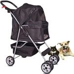 4-Wheels-Pet-Stroller-Cat-Dog-Cage-Stroller-Travel-Folding-Carrier-with-Cup-Holders-and-Removable-Liner-for-Small-Medium-Dog-Cat-0