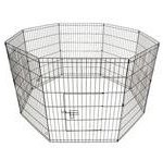 ALEKO-SDK-24B-Heavy-Duty-Pet-Playpen-Dog-Kennel-Pen-Exercise-Cage-Fence-8-Panel-24-x-24-Inches-Black-0-1