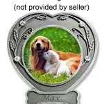 BANBERRY-DESIGNS-Dog-Photo-Frame-Pewter-Finished-Heart-Shaped-Frame-with-Crystals-Pet-Remembrance-Frame-Dog-Picture-Frame-Pet-Memorial-0-1