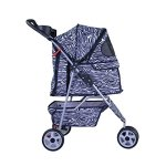 BestPet-Pet-Stroller-Cat-Dog-3-Wheel-Walk-Travel-Folding-Carrier-WRain-Cover-Zebra-0-1