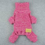Fitwarm-Turtleneck-Knitted-Coat-for-Dogs-Sweaters-Pet-Winter-Clothes-Jumper-Pullover-Pink-0-0