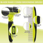 Pecute-Dematting-Comb-Grooming-Tool-Kit-for-Dog-Cat-Double-Sided-Blade-Rake-Comb-with-Grooming-Brush-Dematting-Comb-0-1