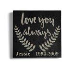 Personalized-Memorial-Pet-Headstone-Customized-6-x-6-Granite-Dog-or-Dog-Memorial-0