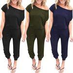 Sttech1-Womens-Pocket-Strapless-Off-Shoulder-Short-Sleeve-Loose-Jumpsuit-Long-Playsuit-0