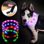 2-3-Pack-LED-Dog-Collar-With-Rubber-Teething-Chewing-USB-Rechargeable-Adjustable-Pet-Necklace-fit-11-20-for-Small-Medium-Large-Dogs-0-0