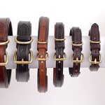 2-Red-Dogs-Genuine-Leather-Dog-Collar-with-Soft-Pebble-Leather-Lining-by-Made-in-USA-Beautiful-Padded-Harness-Luxury-Dog-Collar-0