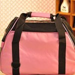 Aiermaisi-Breathable-Portable-Pet-Carrier-Outdoor-Bag-Mesh-Patchwork-Soft-sided-Pet-Carrier-Cats-Dogs-Travel-Crate-Tote-Pet-Bag-Size-S-Pink-0-1