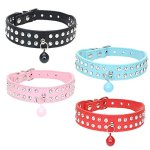Benala-Full-Rhinestone-Bling-Crystal-Soft-Seude-Leather-Diamond-Pet-Dog-Cat-Collar-for-Small-Medium-Breeds-0