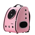 Cloverpet-C0101-Innovative-Fashion-Bubble-Pet-Travel-Carrier-Backpack-for-Cats-Dogs-Puppy-Pink-0-0