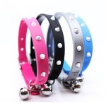 Designers-Novelty-Glow-Spikes-Snag-Proof-Safety-Small-Breed-DogCat-Collar-Fiesta-Blue-XS-0