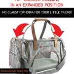 Ess-and-Craft-Pet-Carrier-Airline-Approved-Side-Loaded-Travel-Bag-with-Sturdy-Bottom-Fleece-Cushion-Ventilated-Pouch-with-Faux-Leather-Top-Handle-Zipper-Locks-for-Dogs-Cats-Small-Pets-0-1