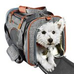 Ess-and-Craft-Pet-Carrier-Airline-Approved-Side-Loaded-Travel-Bag-with-Sturdy-Bottom-Fleece-Cushion-Ventilated-Pouch-with-Faux-Leather-Top-Handle-Zipper-Locks-for-Dogs-Cats-Small-Pets-0
