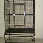 Everila-PCFT32-New-Bird-Parrot-Large-Cage-32x20x53-38-Bar-Spacing-Cockatiel-Conure-Finch-Parakeet-Senegal-Sugar-Glider-Chinchilla-Ferret-0