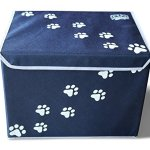 Feline-Ruff-Large-Dog-Toys-Storage-Box-16-x-12-inch-Pet-Toy-Storage-Basket-with-Lid-Perfect-Collapsible-Canvas-Bin-for-Cat-Toys-and-Accessories-Too-0-1