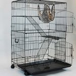 Homey-Pet-36-or-30-Black-Wire-Cat-Chinchilla-Ferret-Cage-wTray-and-Casters-0-2