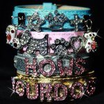 Hows-Your-Dog-Snakeskin-Pattern-Double-strap-Swarovski-Crystal-Personalized-Collar-for-Dog-and-Cat-Candy-PinkS-10-14-0-1