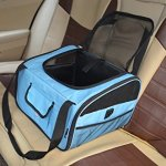 JANMO-Pet-Gear-Bike-Basket-Carrier-Airline-Approved-with-soft-mat-comfortable-pet-carrier-for-car-bicycle-travelling-pet-bag-for-bikeLarge-Size-0-1