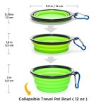 KEKS-Small-Dog-Bowls-Set-of-2-Stainless-Steel-Bowls-with-Non-Skid-No-Spill-Silicone-Stand-for-Small-Dogs-Cats-Puppy-Collapsible-Travel-Pet-Bowl-0-2