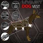 LIVABIT-Canine-Service-Dog-Tactical-Molle-Vest-Harness-Morale-PVC-Patches-Matching-Heavy-Duty-Bungee-Leash-Strap-Also-for-Cats-Puppies-0-2