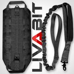 LIVABIT-Canine-Service-Dog-Tactical-Molle-Vest-Harness-Morale-PVC-Patches-Matching-Heavy-Duty-Bungee-Leash-Strap-Also-for-Cats-Puppies-0