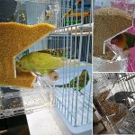 Mrli-Pet-No-Mess-Bird-Feeder-Parrot-Integrated-Automatic-Feeder-with-Perch-Cage-Accessories-for-Budgerigar-Canary-Cockatiel-Finch-Parakeet-Seed-Food-Container-0-2