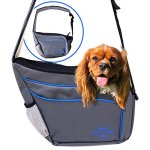 MyDeal-Pet-Shoulder-Bag-Sling-Carrier-with-Weather-Resistant-Oxford-Material-2-Storage-Pockets-and-Net-Zipper-Top-for-Puppies-Dogs-Kittens-Cats-Rabbits-more-0