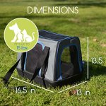 MyDeal-Pop-Up-Pet-Bag-Carrier-Crate-with-Weather-Resistant-Oxford-Material-EVA-Molded-Bottom-Reinforced-Frame-Zipper-Top-and-Front-for-Puppies-Dogs-Kittens-Cats-Rabbits-more-0-0