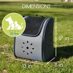 MyDeal-Pop-Up-Pet-Carrier-Backpack-Bag-with-Weather-Resistant-Oxford-Material-Vented-Sides-and-Zipper-Top-for-Puppies-Dogs-Kittens-Cats-Rabbits-more-Includes-Bag-0-0