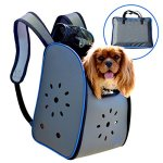MyDeal-Pop-Up-Pet-Carrier-Backpack-Bag-with-Weather-Resistant-Oxford-Material-Vented-Sides-and-Zipper-Top-for-Puppies-Dogs-Kittens-Cats-Rabbits-more-Includes-Bag-0