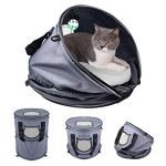 Petneces-Cat-Bed-Cave-with-Cushion-Cat-CarrierCat-Tunnel-Small-Animal-Sleep-Zone-Foldable-Pet-Winter-Play-Tent-for-Home-or-Outdoor-Travel-0