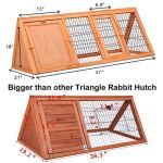 Petpark-Big-47-Triangle-Rabbit-Hutch-Portable-A-Frame-Chicken-Cage-Bunny-House-Chicken-coop-Pet-Cage-Outdoor-for-Small-Animals-0-1