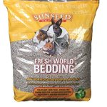 Sun-Seed-Company-SSS18222-Fresh-World-Small-Animals-Phenol-Free-Paper-Bedding-2130-Cubic-Inch-Gray-0