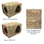 SunGrow-Folding-Woven-Grass-House-for-Rabbits-Guinea-Pigs-Bunnies-Provides-Comfort-Warmth-Security-by-Satisfying-Natural-Instincts-Multi-Utility-Edible-Non-Toxic-Chew-Toy-for-Small-Animals-0-1