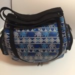 Thailand-Classic-Pattern-Elephant-Style-Puppy-Kitten-Sugar-Glider-Birds-Prairie-dog-Small-Pet-Travel-Cage-Shoulder-Bag-Kennel-Carrier-with-2-Side-Pocket-By-Polar-Bears-Republic-Blue-0-2