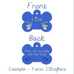 The-Pug-Angel-Halo-Blue-Bone-Shaped-Pet-ID-Tag-Customizable-Information-Pet-Badge-for-Dogs-and-Cats-USPS-Tracking-0