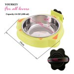 YOURKEY-Pet-Stainless-Steel-Bowl-Dog-Kennel-Cage-Bowl-0-0