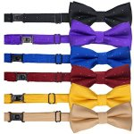 YOY-Handcrafted-Pet-Bow-Tie-Adjustable-Neck-Tie-10-17-Fashion-Polka-Dots-Bowtie-Dog-Collar-Necktie-Kitty-Puppy-Grooming-Accessories-for-Doggie-Cat-Pack-of-6-Multi-colored-0