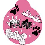 Yellow-Dog-Design-Diva-Dog-Personalized-Hi-Def-Pet-ID-Tag-with-Silencer-0