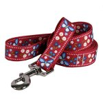 Yellow-Dog-Design-Festive-Butterfly-Red-Dog-Leash-0