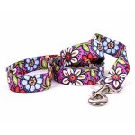 Yellow-Dog-Design-Pink-Garden-Dog-Leash-Size-SmallMedium-34-Inch-Wide-and-5-feet-60-inches-Long-0
