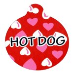 Yellow-Dog-Design-Red-Hearts-Personalized-Hi-Def-Pet-ID-Tag-with-Silencer-0