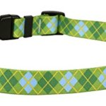 Yellow-Dog-Design-Standard-Easy-Snap-Collar-Black-Argyle-0