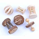 pranovo-6-Pack-Hamster-Wooden-Chewing-Toys-Pets-Teeth-Care-Molar-Ball-Exercise-Playing-Bell-Roller-Toy-for-Cat-Rabbits-Rat-Guinea-Pig-Small-Animals-0