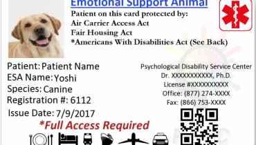 Emotional Support Dog Letter To Landlord