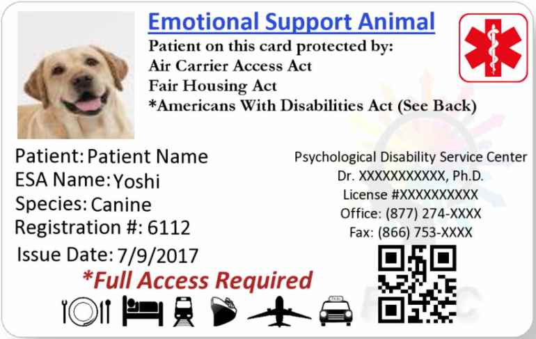 Emotional Support Dog Letter To Landlord