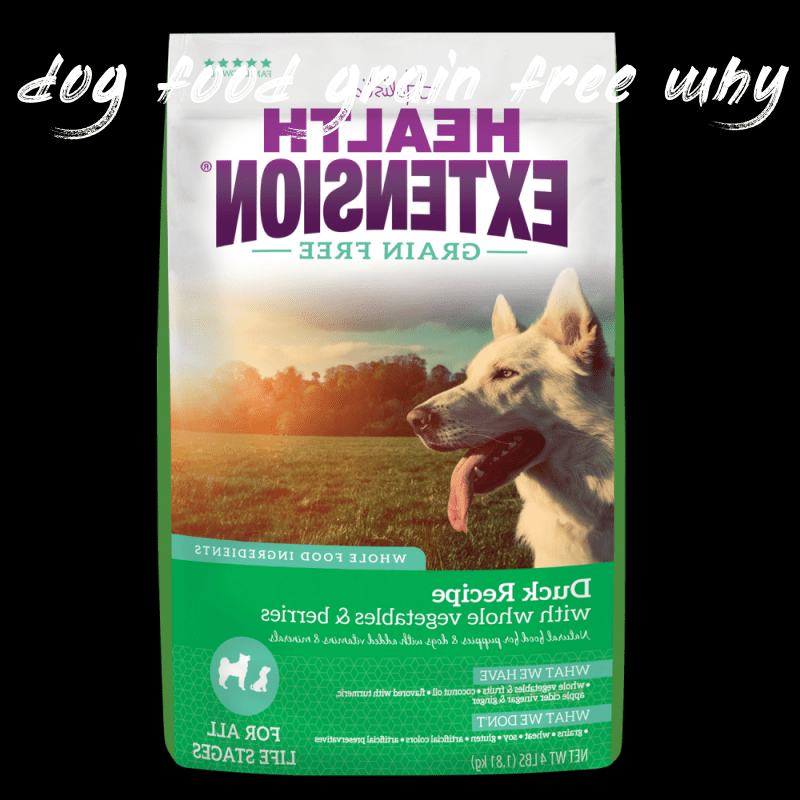 Information about dog food grain free why
