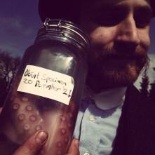 De Geer with a strange find. Portrait. Photo: Petter Karlsson