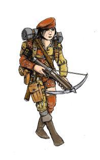 Jaeger of The Guild. Illustration: Peter Edgar