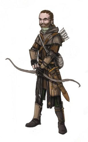 Wolf ranger from Cordovien. Illustration: Peter Edgar